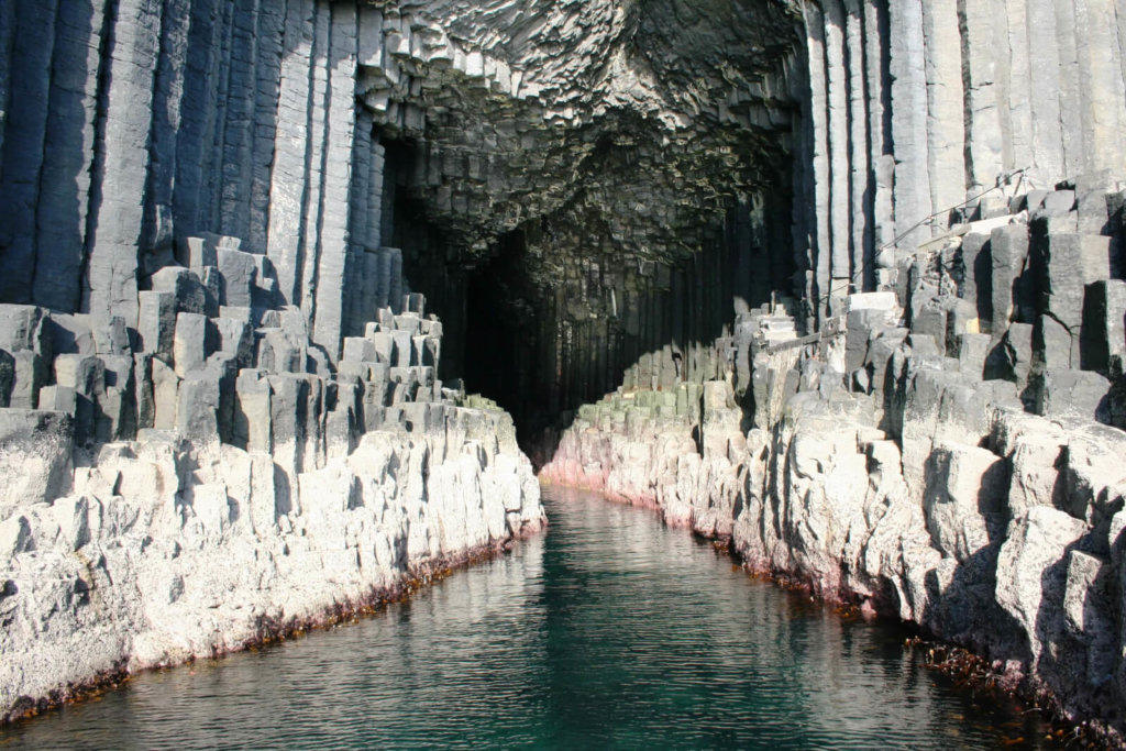 Entrance to Fingals Cave on the Isle of Staffa