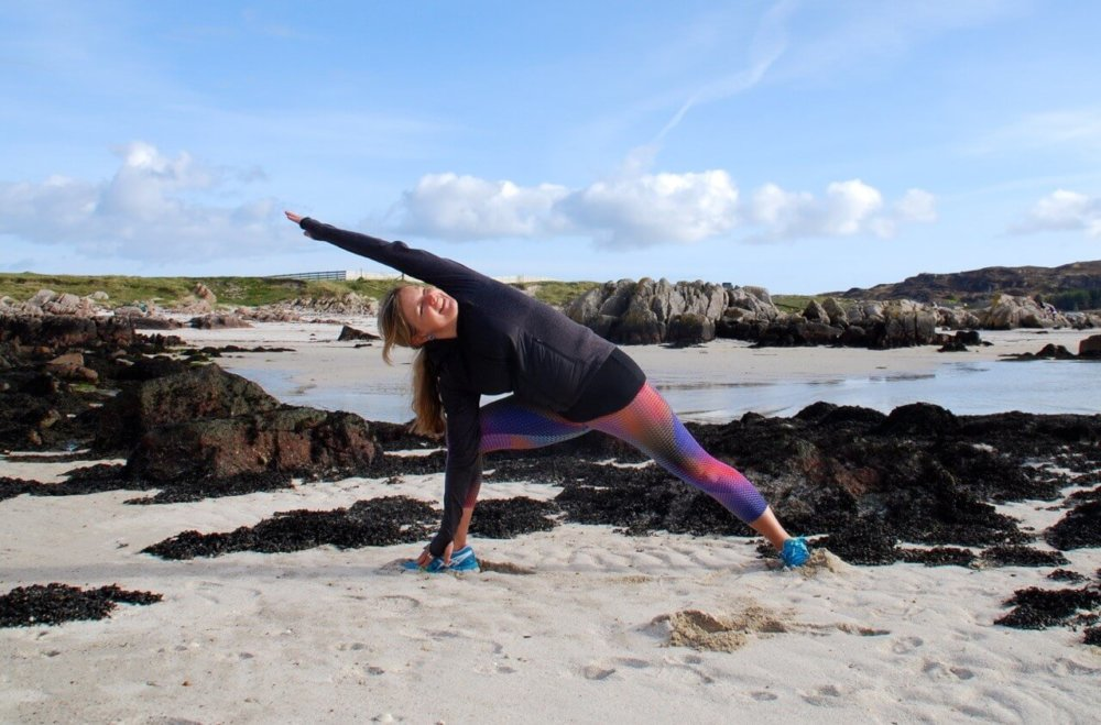 Yoga on the beach Mull