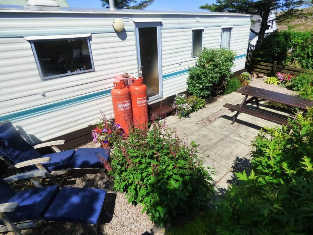 The Bothy self catering spacious caravan Fionnphort Isle of Mull near Iona
