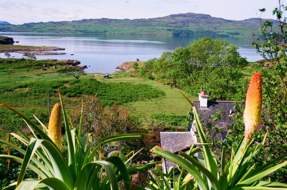 View from the top of Lip na Cloiche garden