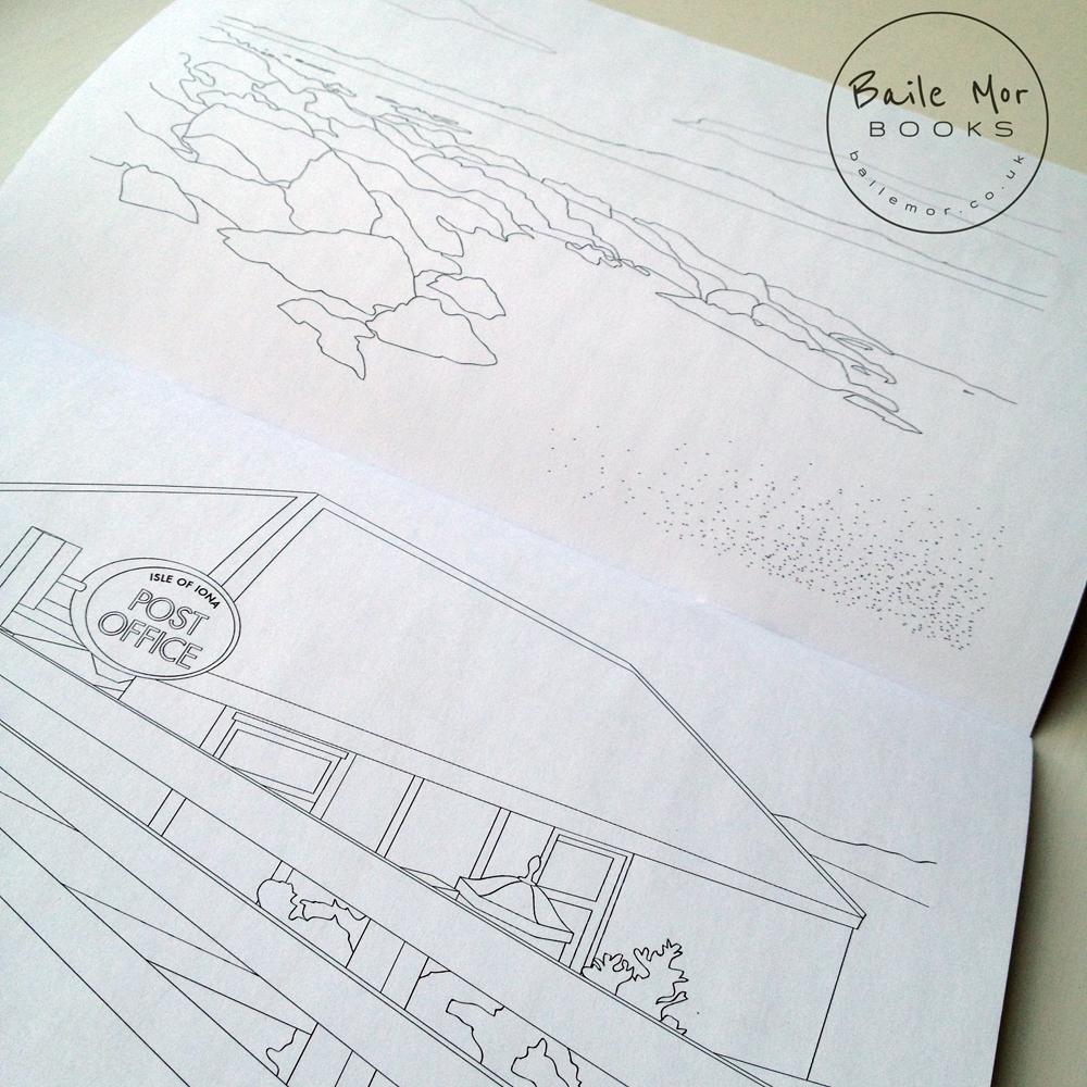 Baile Mor Isle of Iona Colouring Book - the Mull and Iona Shop